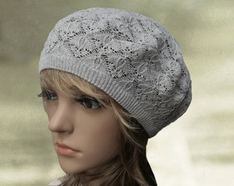 0b2315ed464 Knit cotton beret
