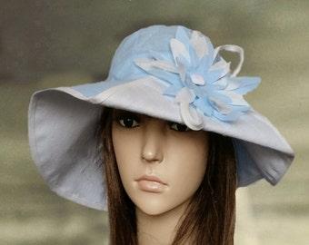 742288d1 Hats linen women, Linen suns hats, Blue summer hats, Sun hat wide brim,  Summer trendy hat, Hats for summer, Linen hats lady, Suns hats lady