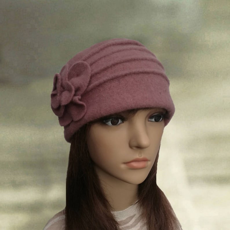 4c90ec0710e Felted wool beanie Felted wool hats Womens winter hats Felt