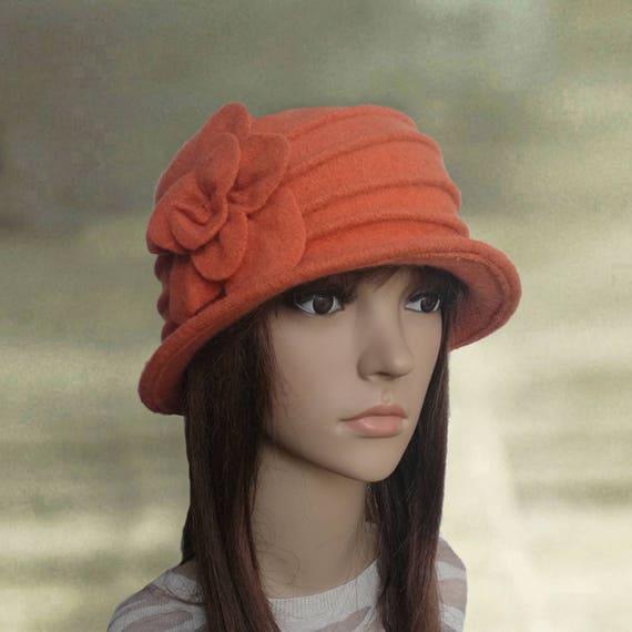 Felt cloche hats Womens felt hats Ladies felted hats Womens  d9874942299