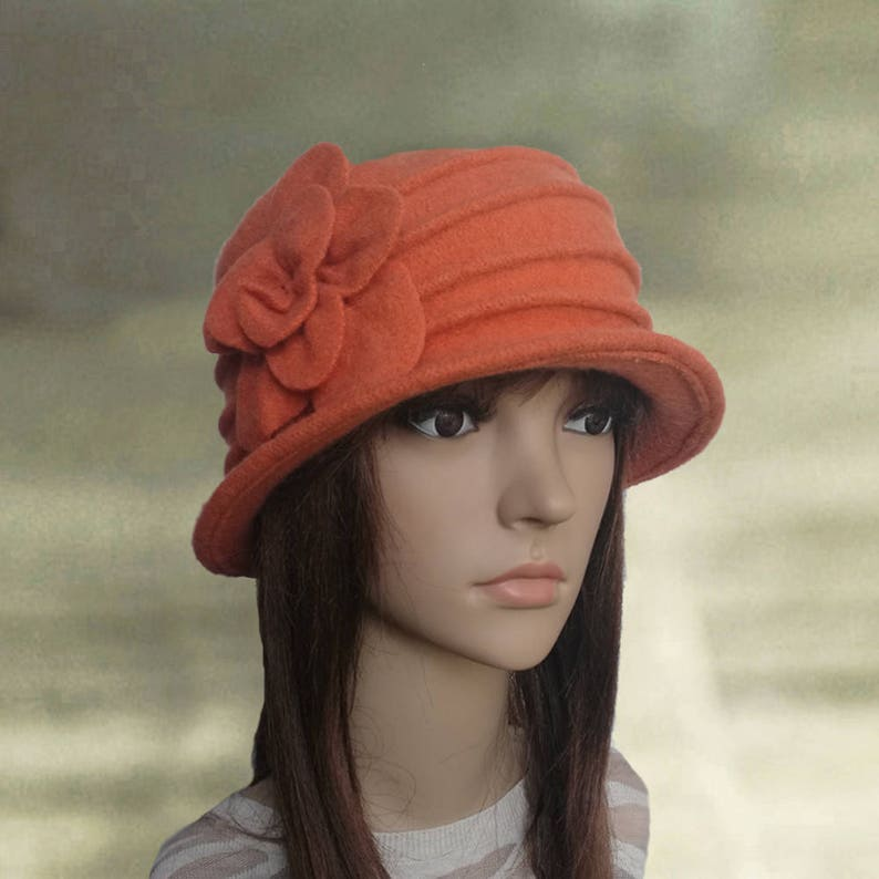 c8d55dd3178 Felt cloche hats Womens felt hats Ladies felted hats Womens