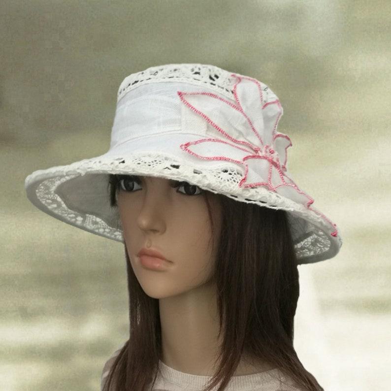 303899e05fcfd6 Suns hats linen Summer hats women Bohemian clothing Linen | Etsy
