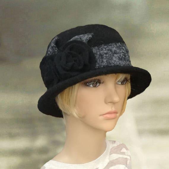 bac9ead7438 Felted wool hats Womens felt hats Ladies felted hat Womens