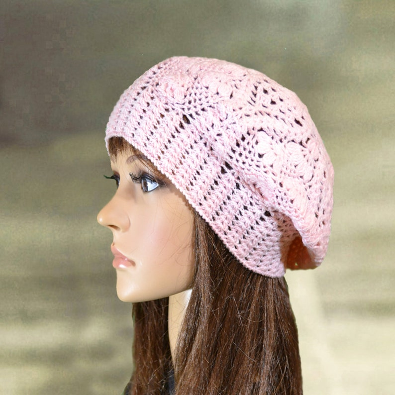 e65c82b916c Cotton summer hats Womens lace beanie Knit summer beret