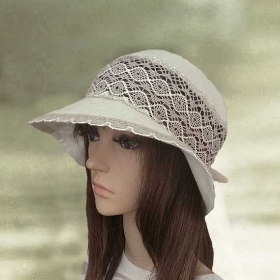 Sun hats cotton Linen womens hats Summer fabric hats  eb228b5d085c