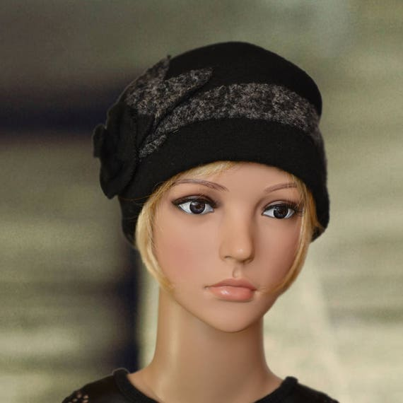 6c106532842 Womens winter hats Warm felted hat Small wool cap Ladies