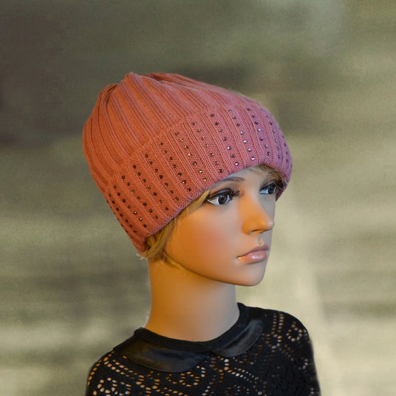 82aa74f71ec74 Womens winter hats Winter knit hats Wool slouchy beanie