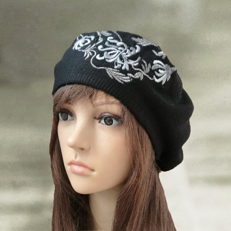 ae3015a19da Womens knit beret Knitted warm beret Ladies wool beret Knit