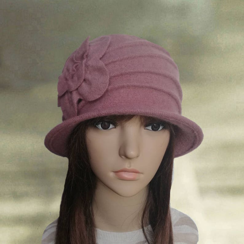 66ac27f81db Felted wool hats Womens winter hats Felted cloche hat