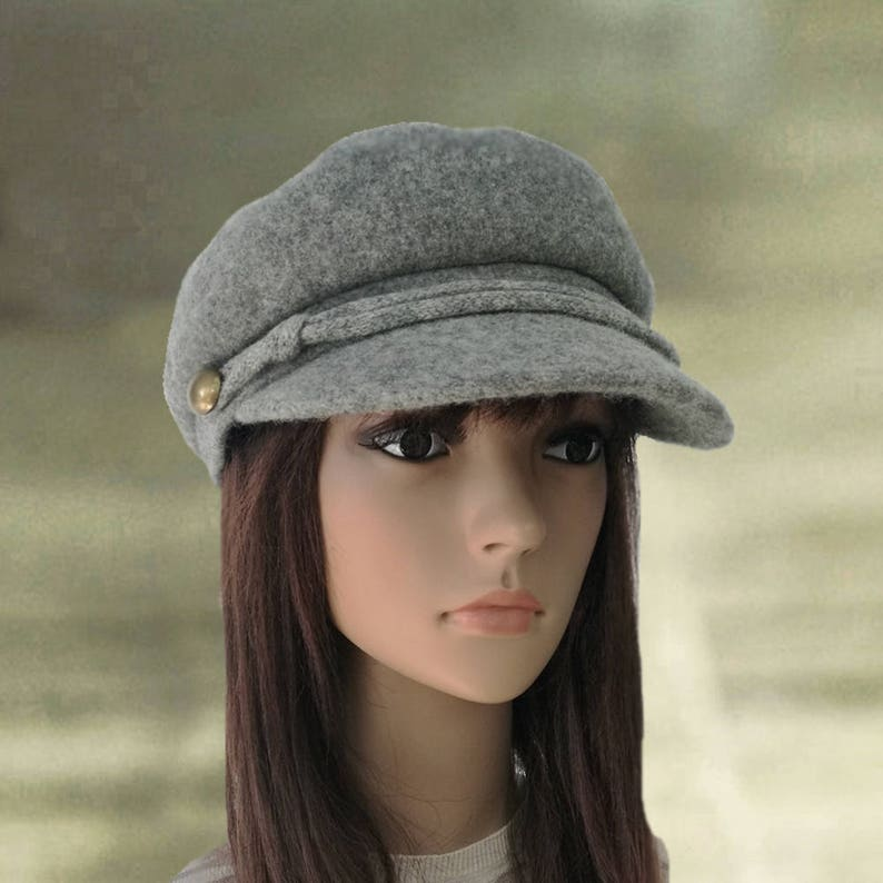 e1fca3d05 Felted wool caps, Hats with visor, Womens winter caps, Wool newsboy cap,  Wool felted hats, Felt cap visor, Women's winter hat, Felt wool hat