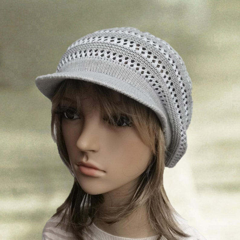 89e2b6909e4b1 Summer newsboy cap Cotton visor hat Women s summer cap