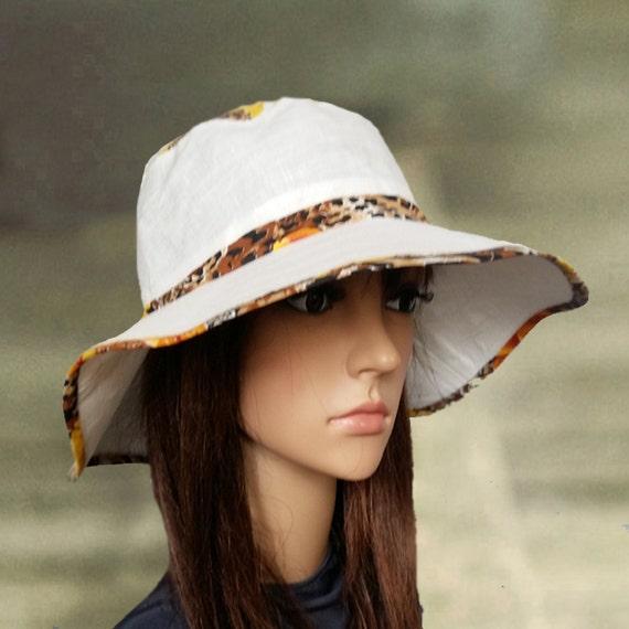 ca58e7fcb Sins hats linen, Wide brimmed hats, Sun floppy hats, Large brim sun hat,  Foldable sun hat, Beach clothing, Ladies sun hat, Cotton summer hat