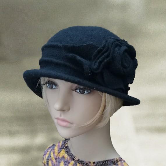 3e4fd44f7b3 Felted wool hats Womens winter hats Felted cloche hat