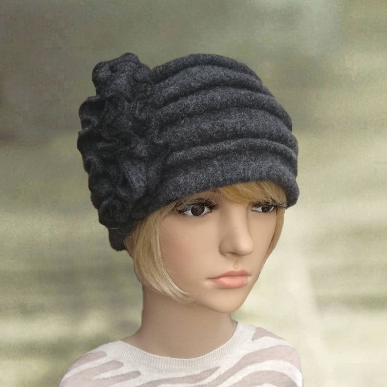 499dc3a485a Womens felt hats Ladies winter hats Felted wool hats Womens
