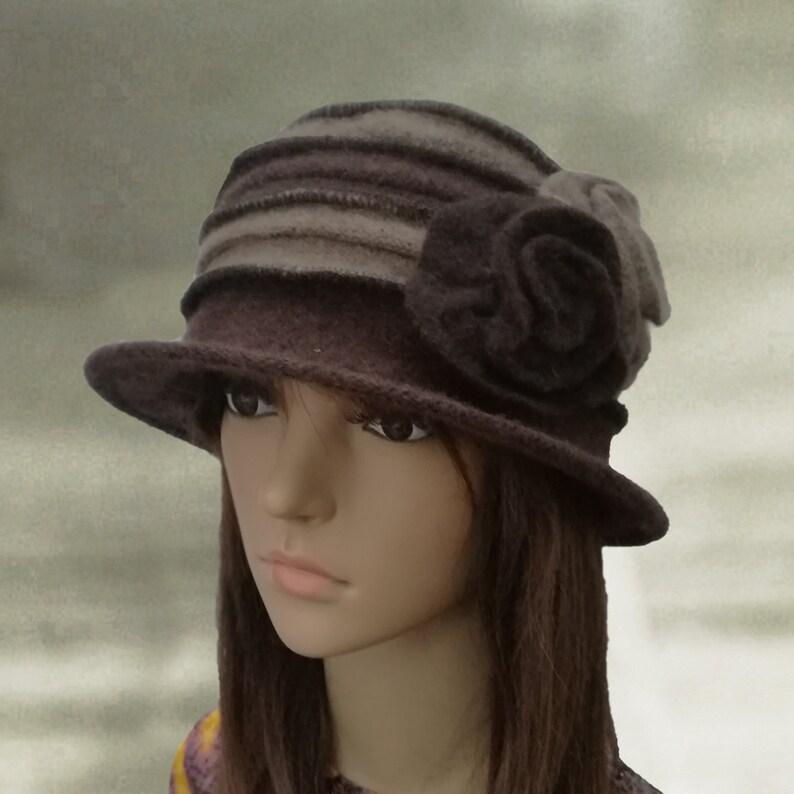 Ladies felt hats Womens felt hats Felted wool hats Winter  c51da55d0f9