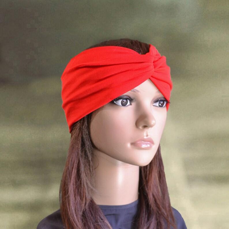 f7e148f229c8 Turban headbands Red headbands Twisted headbands Yoga head