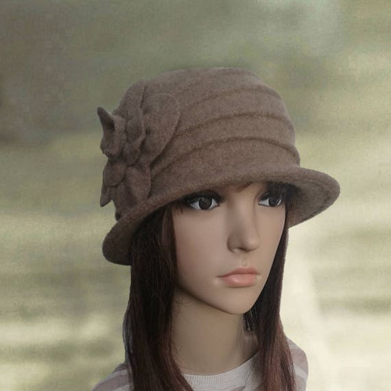 Womens felt hat Ladies felted hat Felted wool hats  ce85bf0458c