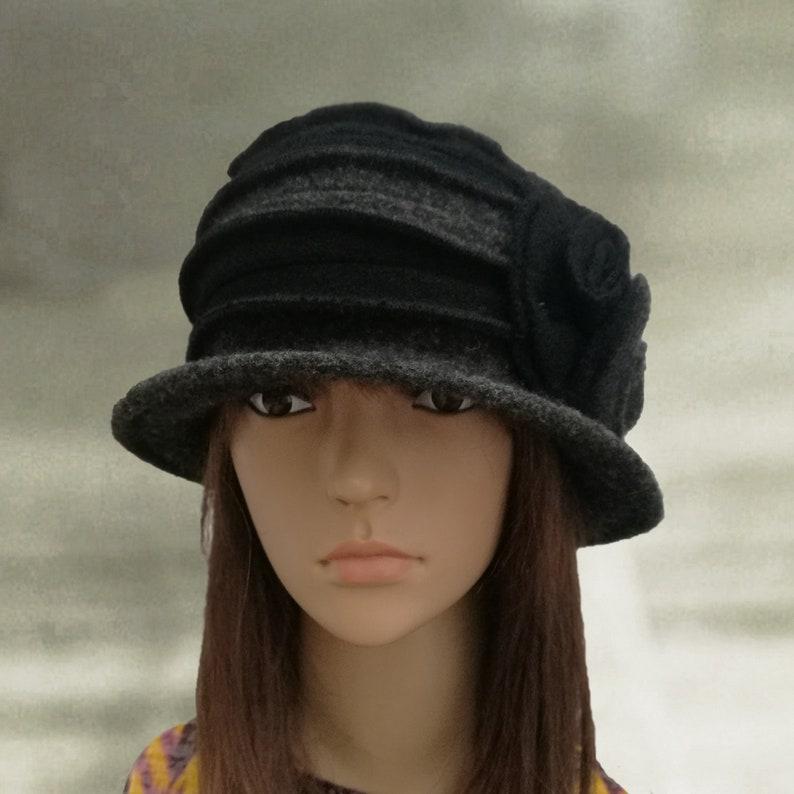 2318c720edd Women s winter hats Felted wool hats Boiled wool hat