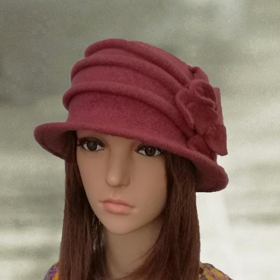 b42cee7a6f1 Felted wool hats Womens winter hats Felt hat for women