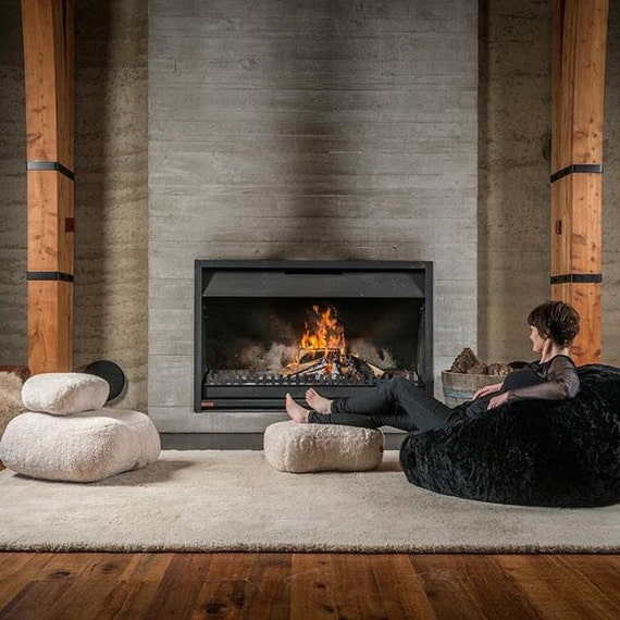 Outstanding Premier Modern Sheepskin Beanbag Theatre Beanbag Chair Furniture Wool Sheepskin Authentic Fluffy Modern Seating Decor By Mod Allure Unemploymentrelief Wooden Chair Designs For Living Room Unemploymentrelieforg