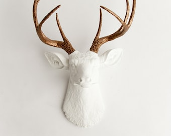 Faux Deer Decor, Deer Head Decor, Faux Taxidermy, Faux, Deer, Wall Art, Wall Decor, Faux Animal Head by Mod Allure- Lydia