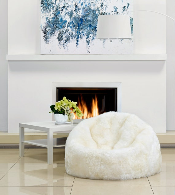 Awe Inspiring Premier Modern Sheepskin Beanbag Theatre Beanbag Chair Furniture Wool Sheepskin Authentic Fluffy Modern Seating Decor By Mod Allure Creativecarmelina Interior Chair Design Creativecarmelinacom