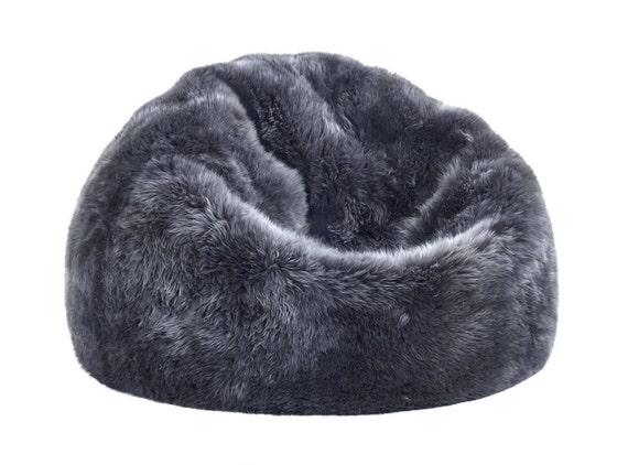 Awesome Premier Modern Sheepskin Beanbag Theatre Beanbag Chair Furniture Wool Sheepskin Authentic Fluffy Modern Seating Decor By Mod Allure Ibusinesslaw Wood Chair Design Ideas Ibusinesslaworg