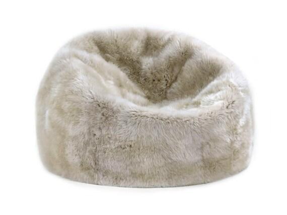 Marvelous Premier Modern Sheepskin Beanbag Theatre Beanbag Chair Furniture Wool Sheepskin Authentic Fluffy Modern Seating Decor By Mod Allure Ibusinesslaw Wood Chair Design Ideas Ibusinesslaworg