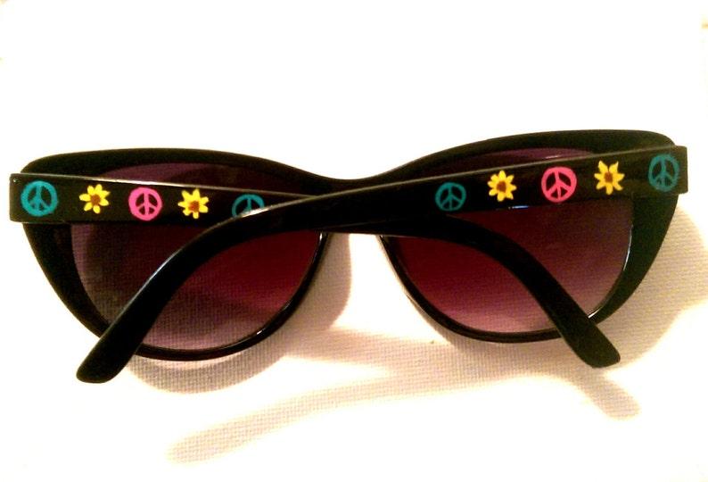 2c5200bed06 Personalized Sunglasses Sunflower Cat eye Sun glasses bohemian