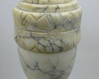 The Sommers Collection, Italian Alabaster Marble Lamp. Vintage