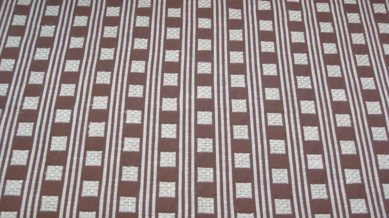 Serendipity Collection Designer Fabric Brown and Cream image 0