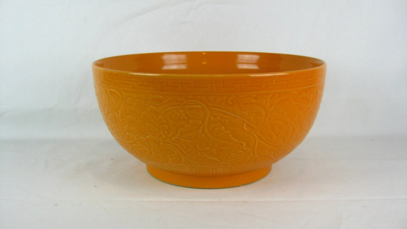 The Josef Collection Beautiful Orange Bowl with floral and image 0