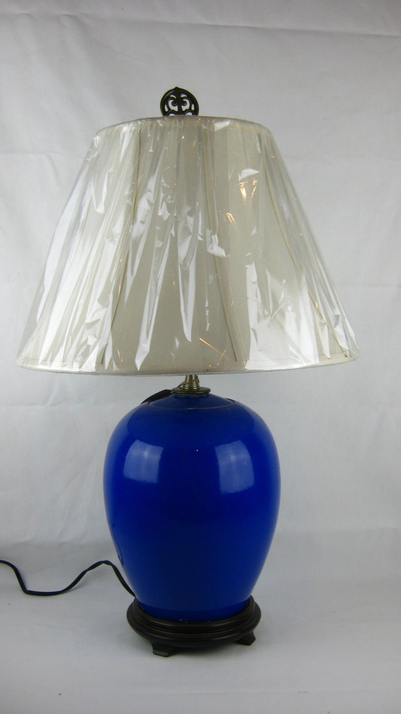 The Josef Collection Chinese Pottery made into a lamp. image 0