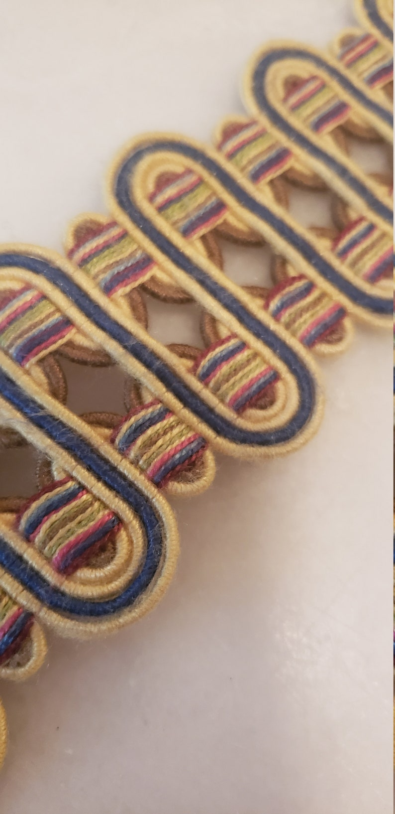 Josef Collection Flat Multi-Colored Tape/Trim by Lina's. image 0