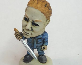 Neil Eyre Eyre Designs Halloween Horror inspired fan made Nightmare Michael Meyers Mask knife spooky Ghouls figurine Limited Edition