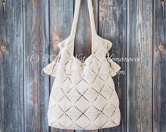 crochet bag pattern etsy Watercolor Flowers tessera crochet bag pattern shoulder, beach, boho chic handbag with tassels easy chart graph join as you go motifs pdf