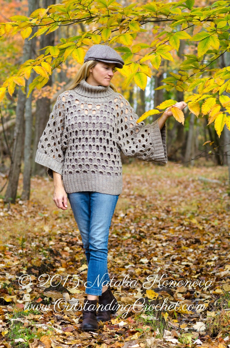 a230e8708742a5 Women Sweater Crochet PATTERN Chunky Winter Pullover Plus | Etsy