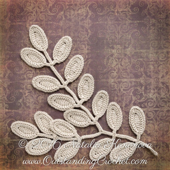 Irish Crochet Applique Pattern Fantasy Flower Leaf Lace Etsy