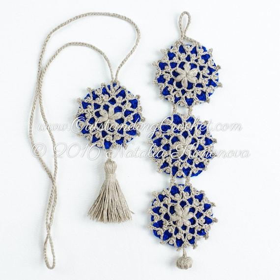 Festival de collar patrón copo de nieve pulsera joyería | Etsy