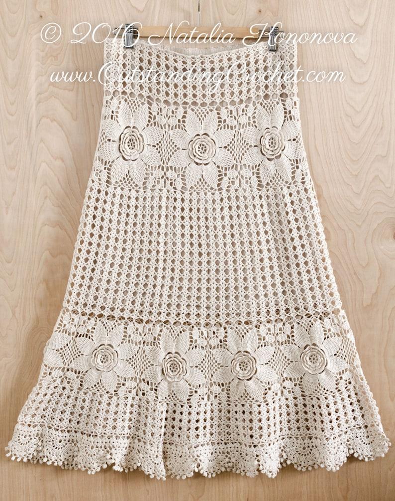 62b37fe564 Crochet Skirt PATTERN Country Fair Crochet Lace Women   Etsy