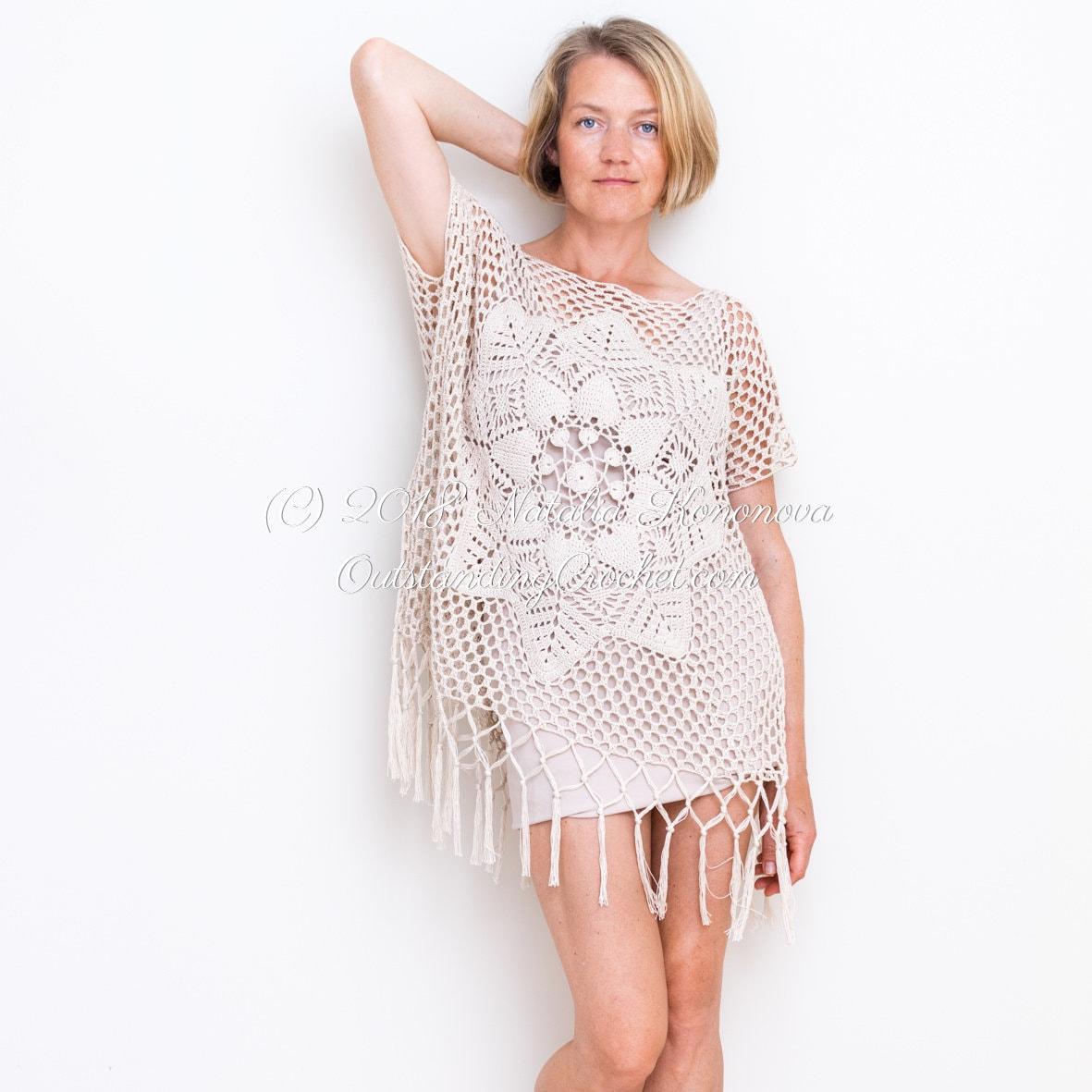 fa062dfdb Crochet Top PATTERN Desert Woman Summer Dress Tunic | Etsy