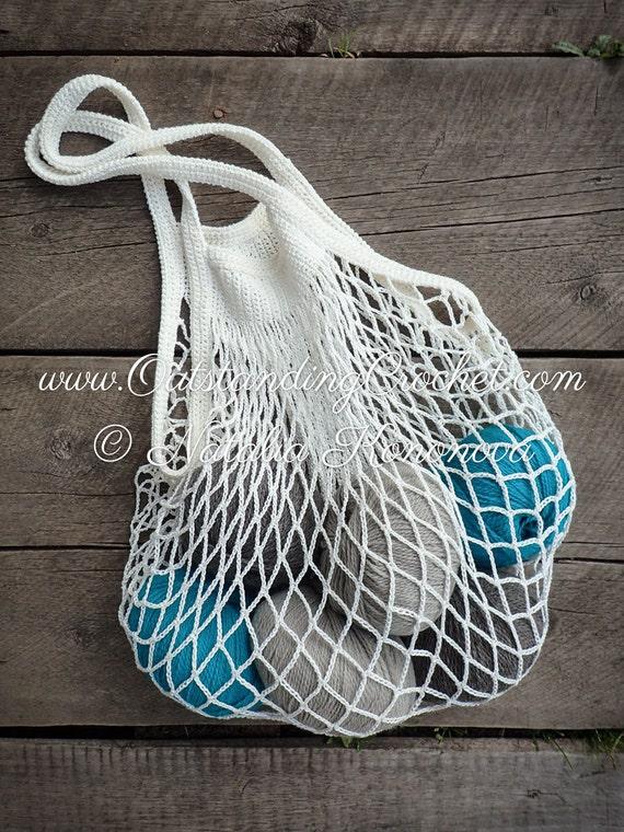 Grocery Bag Crochet Pattern Beach Bag Market Mercado Bag Etsy