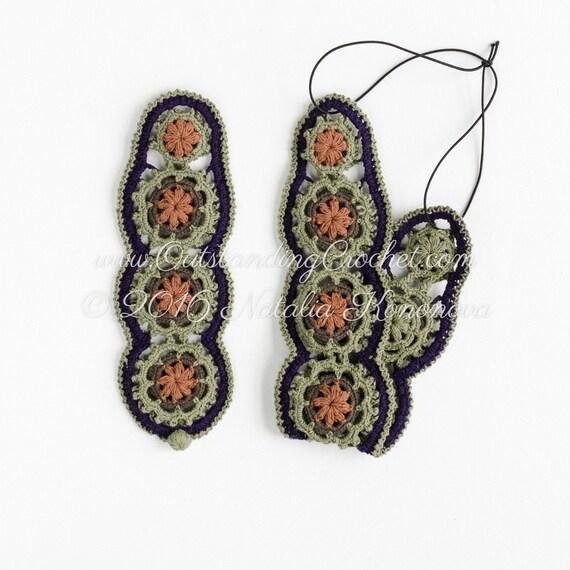 Crochet Headband Bracelet PATTERN Jewelry Set Boho   Etsy