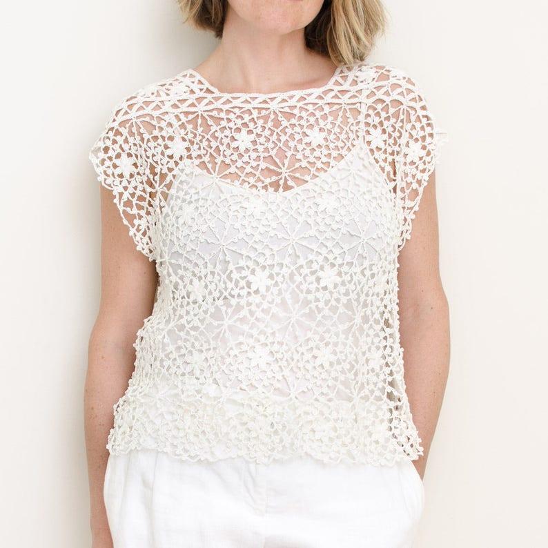 Crochet Top PATTERN - Serenity - Small to Plus Size 4X, Crochet Lace Women,  Summer, Seamless, Drop Shoulder - PDF