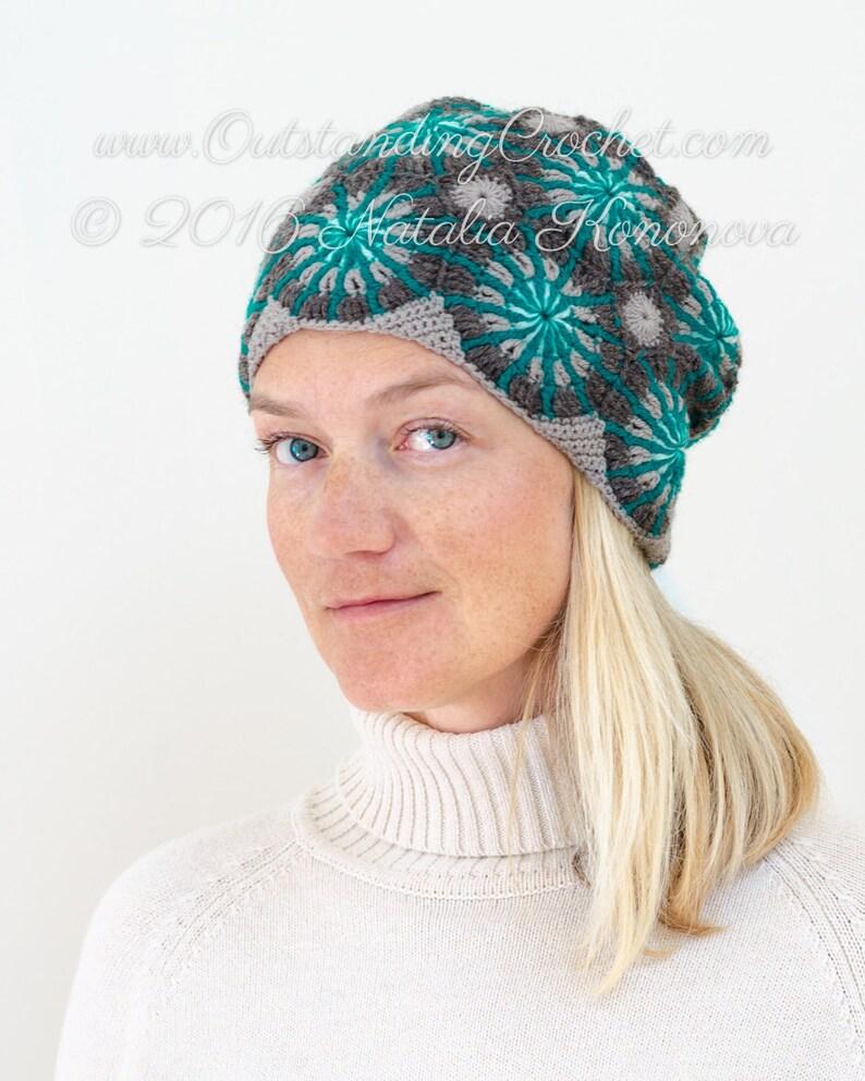 40a995f2c15 Crochet Hat PATTERN Mariana Women Beanie Reversible