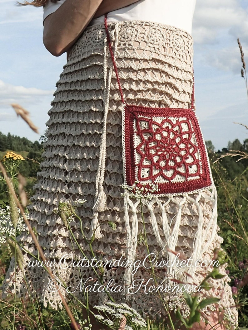 Crochet Purse PATTERN - Sun Symbol Small Bag, Crossbody Phone Case - Boho  Hippie Festival Style - Women, Girls - PDF