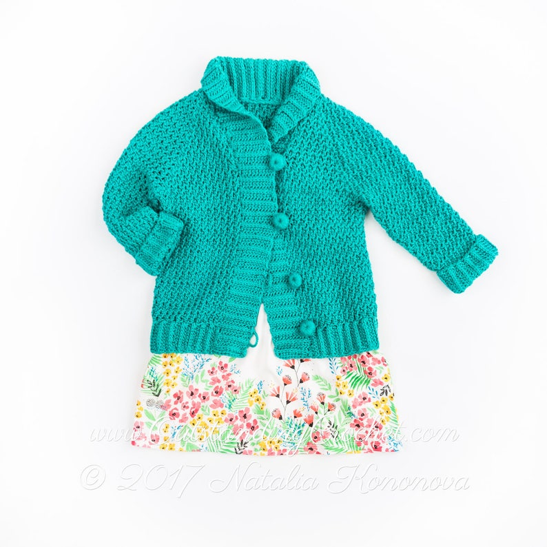 Girls Crochet Cardigan Pattern For Kids Campfire Raglan Etsy