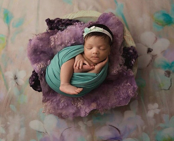 curly round blanket merino silk felted layer newborn photography props 2pc felted set PASTEL COLLECTION
