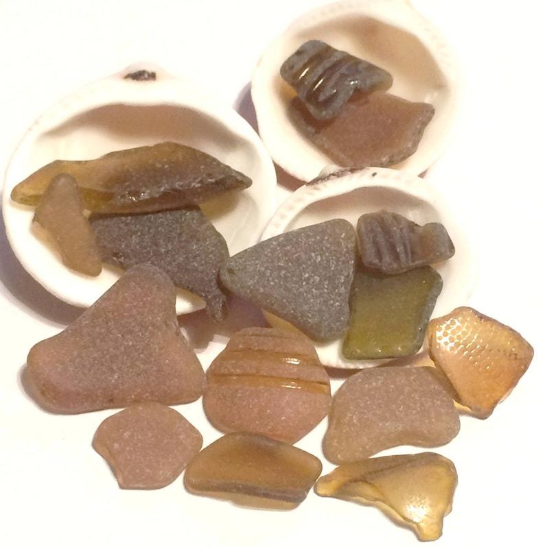 Genuine Sea Glass Rare Sea Glass Brown Sea Glass Genuine Beach Glass Bulk Sea Glass