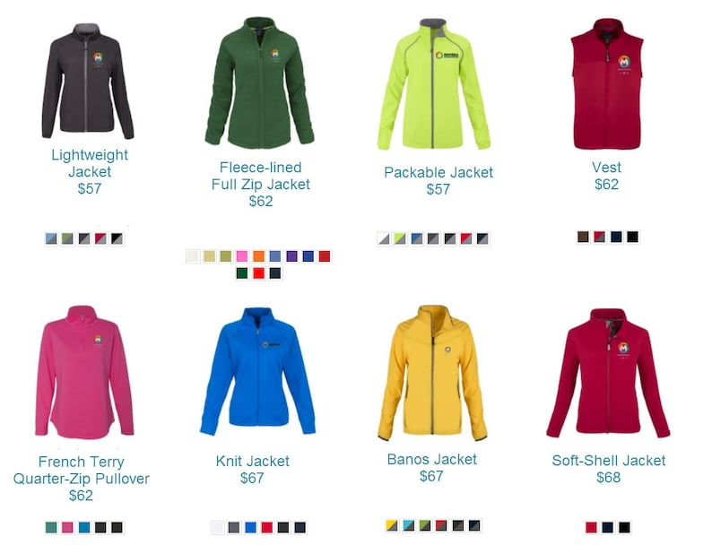 24 Styles Of Custom Design Personalized Jackets And Fleeces To Choose From